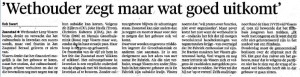 Noord Hollands Dagblad door Rob Swart